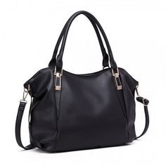 Large black soft faux leather slouchy tote hobo bag Zip fastening to the top The bag is fully lined inside and has internal pockets and a detachable Shoulder Handbags, Shoulder Bag, Prom Accessories, Cat Scarf, Black Tote, Marimo, Large Bags, Hobo Bag, Designing Women