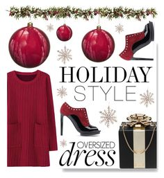 """Holiday Style: Oversized Dresses"" by serepunky ❤ liked on Polyvore featuring Alexander McQueen, Jim Marvin, Kate Spade, Nearly Natural, Melrose International, holidaystyle and oversizeddress"