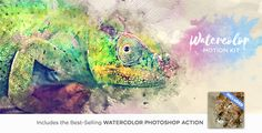 Watercolor Motion Kit allows you to create unique, artistic watercolor designs and animate them in one click! With a brand new workflow utilizing the power of Photoshop and After Effects,...