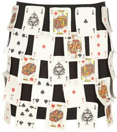 Moschino Vintage 3d Playing Card Skirt - Lyst