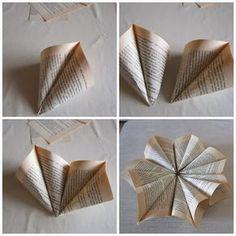 VillaTuta: Paperitähti.. Christmas Time, Christmas Crafts, Merry Christmas, Xmas, Parol, Book Corners, Book Folding, Handmade Christmas, Snowflakes