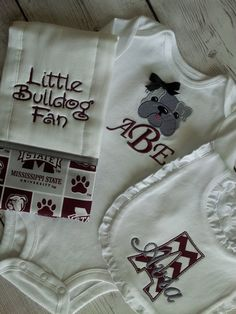 Mississippi State Bulldog Pillowcase Dress Baby Toddler With Paw