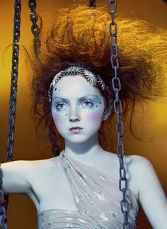 """Lily Cole in """"So Poetic"""" By Miles Aldridge For Vogue Italia, August 2006 Quirky Fashion, Fashion Art, Editorial Fashion, Miles Aldridge, Lily Cole, Richard Avedon, Portraits, Creative Makeup, Makeup Inspiration"""