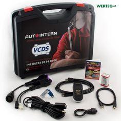 Entdecken Sie die Diagnose-Sets für die elektronische Fahrzeug-Diagnose, bestehend aus dem Multiscan Diagnose-Adapter und der bewährten VCDS-Diagnose-Software. Software, Suitcase, Products, Vehicles