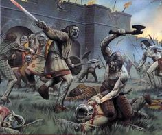 Pictish and British attacks on the Roman Wall constructed by Hadrian were common and ferocious. For most of the time, at least until the fourth century, the attacks were successfully repelled by Roman arms. After imperial troops left Britannia, the Wall was deserted and became a relic, reminding besieged Romano-Britons of more secure times.
