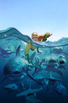 Amazing Aquaman cover by Joshua Middleton.