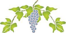 Seitenzahl: 2, Schablonen für die Frucht Malen • Schablonen für Dekoration • Wandschablonen kaufen - wiederverwendbar Dekorschablonen