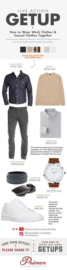 The Getup: How To Wear Work Clothes & Casual Clothes Together