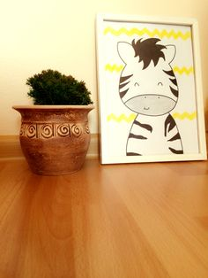 Zebra-nursery wall art decor -home&hand made , made with ❤️ove