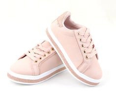 Sneakers παιδικά με κορδόνια ροζ  19,99€ #girl #sneakers Vans Old Skool, Comfortable Shoes, Most Beautiful, Glamour, Sneakers, How To Wear, Fashion, Comfy Shoes, Tennis
