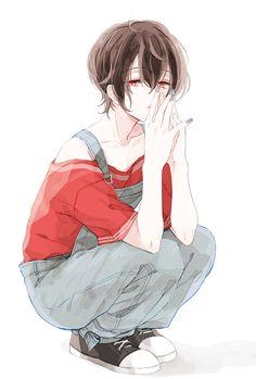 Anime boy with brown hair Manga Anime, Chibi Anime, Fanarts Anime, Manga Boy, Anime Meme, Anime Characters, Hot Anime Boy, Cute Anime Guys, Anime Art Girl
