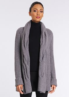 Cable Collar Cardigan