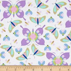 Michael Miller Birds & The Bees All the Wee Beast Lavender from @fabricdotcom  Designed by Tamara Kate for Michael Miller, this cotton print fabric is perfect for quilting, apparel and home decor accents. Colors include pink, teal, grey, white, shades of blue, shades of purple, and shades of green.