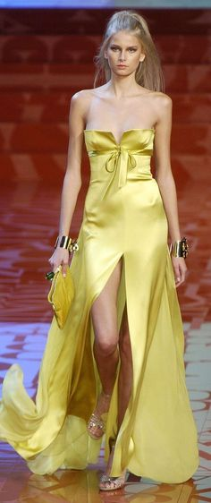 Valentino, reminds me of the shade of yellow Kate Hudson wore in How to Lose a Guy in 10 Days.
