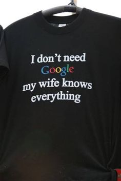 I think there is a typo on this shirt - the word 'wife' should be spelt h-u-s-b-a-n-d  : )