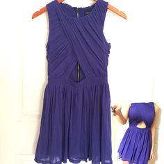 Topshop petite Blue cut out dress. Don't forget to check my closet and bundle it. Topshop Dresses Midi