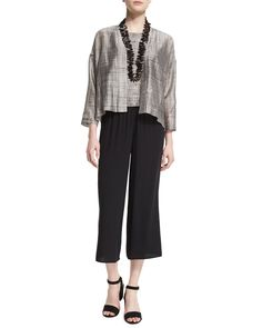 Eileen Fisher Outfits at Neiman Marcus New Fashion, Luxury Fashion, Fashion Outfits, Comfy Casual, Casual Outfits, Casual Clothes, Eileen Fisher, Cropped Pants, Neiman Marcus
