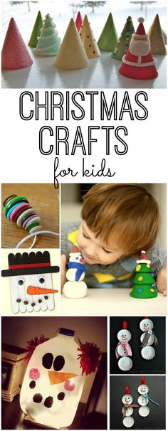 Fun and simple Christmas Crafts for kids. Your kids will love these DIY Christmas art projects - and you will too.