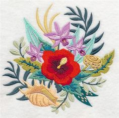 Machine Embroidery Designs at Embroidery Library! - Tropical Island