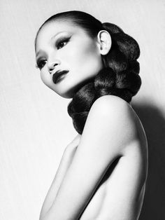 Li Ming by Cristian Girotto, via Behance  Braided ponytail, braids, beauty.
