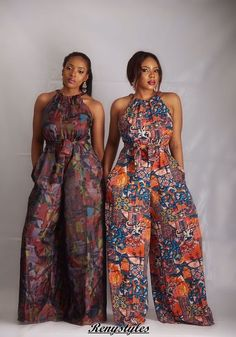 Collection of the most beautiful african ladies ankara jumpsuit styles. These are the best and most beautiful jumpsuit ankara styles you can ever have African Inspired Fashion, African Print Fashion, Africa Fashion, Fashion Prints, Tribal Fashion, Fashion Black, African Jumpsuit, Ankara Jumpsuit, Ankara Dress