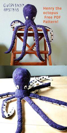 Free octopus sewing pattern!