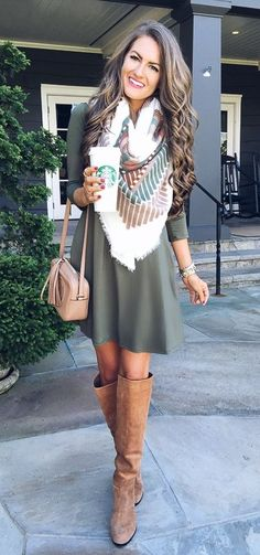 Pretty fall outfit without the scarf for me - it is nice though
