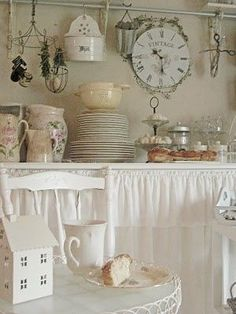 Shabby Chic Kitchen with Vintage Items by elvira