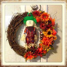 My first DIY Fall wreath.