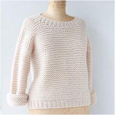 Blush Chunky Knit Lambswool Sweater