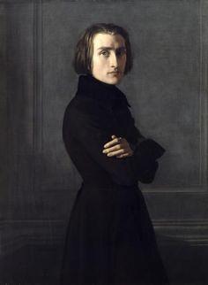 Portrait of Franz Liszt 1839 by Henri Karl Ernest Rudolf Heinrich Salem Lehmann