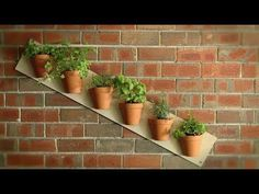 Jim creates two easy vertical garden projects using clay pots for herbs, flowers and vegetables.