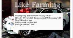 """""""We Are Giving 20 BMW"""" Facebook Like-Farming Scam"""