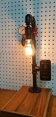steampunk lamp one of a kind by mechanique by mizzmechanique rh pinterest com Steampunk Pipes Steampunk Buildings