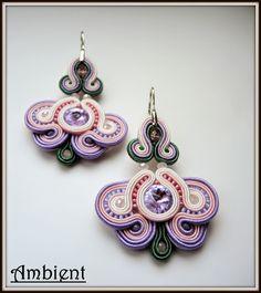 Soutache  earrings http://www.ambient4you.blogspot.com/2015/02/100-kolczyki-na-wyzwanie-foto.html