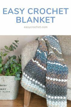 Mom Crochet Soft & Comfortable Blanket For Baby - Baby Blanket Crochet Patterns Easy Crochet Blanket, Afghan Crochet Patterns, Baby Knitting Patterns, Crochet Afghans, Crochet Blankets, Crochet Stitches Free, Knitting Ideas, Manta Crochet, Knit Or Crochet