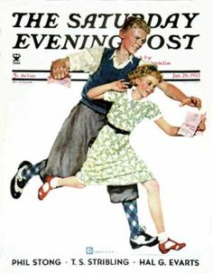 Saturday Evening Post - 1935-01-26: Love Letter (Douglas Crockwell)