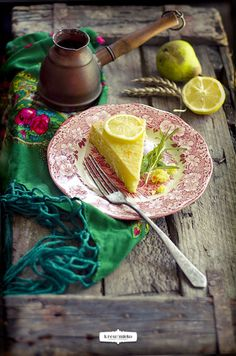 Cheese cake with rosemary and lemon | Blood and milk - kitchen and photography