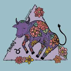 TAURUS Astrology Taurus, Horoscope, Taurus Tattoos, Star Children, Zodiac Signs, Moose Art, Stickers, Embroidery, Artist