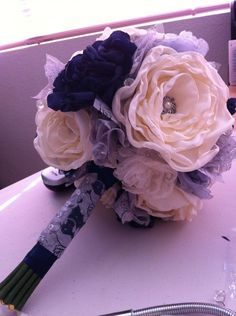 My DIY so far! Winter vintage inspired wedding.. Navy blue, silver, ivory « Weddingbee Boards