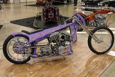Custom Motorcycles, Custom Bikes, Custom Cars, Cars And Motorcycles, Sportster Chopper, Chopper Motorcycle, Old School Chopper, Honda Cub, Harley Davidson Chopper