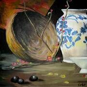 'Ode to an Urn' by Orla Cahill Canvas Board, Urn, Ireland, Painting, Artists, Painting Art, Paintings, Irish, Painted Canvas