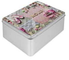 """Personalised gift box, Tin Box, pink, ballerina, vintage tin box, decorated box, birthday box, baby gift, best friend keepsake, storage box.  This is the gift that bring back memories of a sweet childhood: the treasure box, A true vintage icon with the modern and personalized twist. Whether is given as a """"treasure box"""" or a secret box or """"baby shower box"""" These absolutely lovely tin boxes are perfect for boys to store their marbles, match attach cards or their favourite cars. For girls this…"""