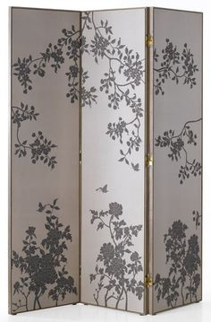 DIY Room divider - plywood and wall paper? BRILLIANT!! JUST THINK OF ALL THE OPTIONS ONE COULD APPLY TO THIS IDEA!! - (FABRIC WOULD ALSO WORK WELL!!) Use50% white glue + 50% Clag!! Then finish off (optional) with a spray of clear lacquer!! Works BRILLIANTLY!!