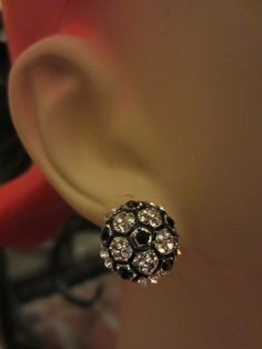Soccer Ball Metal Stud Earrings by PrairieChicBoutique on Etsy, $8.00