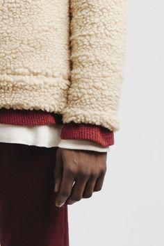 by Aimé Leon Dore via fourpins Men's Fashion, Fashion Shoot, Winter Fashion, Fashion Ideas, Street Fashion, Sherpa Sweater, Men Sweater, Aime Leon Dore, Mens Essentials