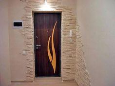 В коридоре фото для внутренней отделки декоративный кирпич.