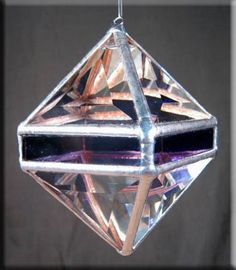 Rainbow Water Prism  Purple Octahedron Rainbow Maker  Crystal Stained Glass Suncatcher * Check out the image by visiting the link.
