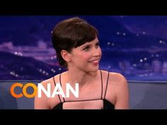 Felicity Jones Teaches Conan Brummie Slang - YouTube