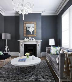 Wohnzimmer Viktorianischen Stil Moderne Twist Schwarz Gelb | Home Decor |  Pinterest | Living Rooms, Interiors And Room
